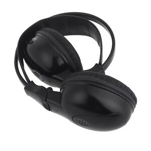 2-Channel-IR-Wireless-Headphone-Headset-Stereo-for-Car-DVD-Player-Headrest-New