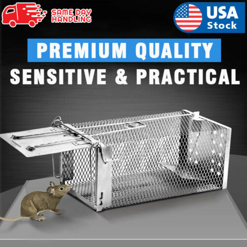 USA Mouse Trap Rat Trap Rodent Trap Live Catch Cage, Easy to Set Up and Reuse