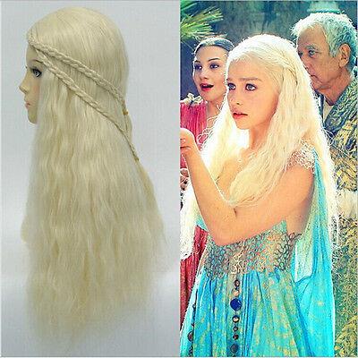 Game of Thrones Khaleesi Daenerys Targaryen Cosplay Wig For Women Halloween - Khaleesi Daenerys Targaryen Kostüm