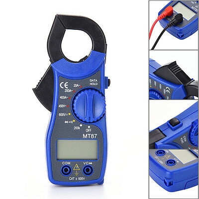 Newest Mini Mt87 Lcd Digital Clamp Multimeter Voltmet Electric Voltage Tester