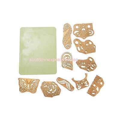 Anna Griffin® Cuttlebug 10-piece Seasonal Die Set Plus Rubber Mat Sealed/New 10 Piece Seal Set