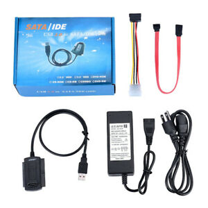 Usb 2 to SATA/IDE cable with external power adapter