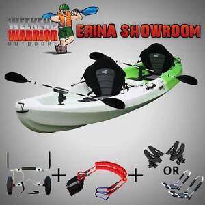 DOUBLE Kayak Triple FAMILY Fishing Package Trolley J Racks Cradle Erina Gosford Area Preview