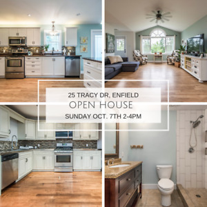 OPEN HOUSE! SUN. OCT. 7th 2-4pm 25 Tracy Dr, Enfield