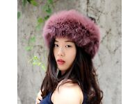DAYMISFURRY--NEW Knit Fox Fur Headband