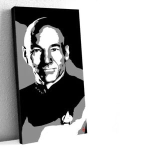 Captain Picard Star Trek Original 15X30 Acrylic Painting 1/1