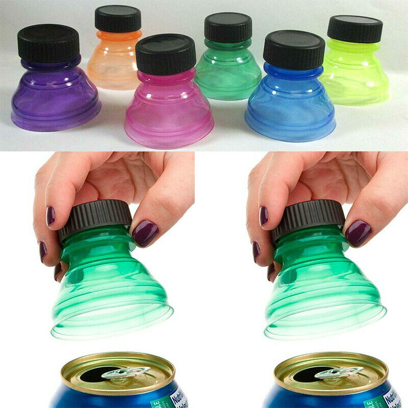 6Pcs Soda Can Saver Reusable Pop Drink Covers Lid Protector Spill Free Bottles Home & Garden