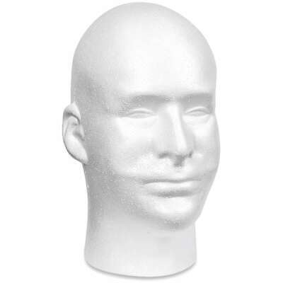 Styrofoam Male Head Bulk 11x6.5x8.5 046501085665
