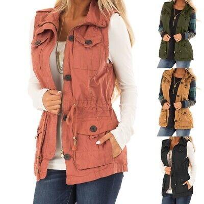 Fashion Vest Coat Jacket Women Ladies Casual Sleeveless Zipper Jacket for Women