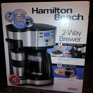 Barely Used Hamilton Beach 2-way Coffee Maker