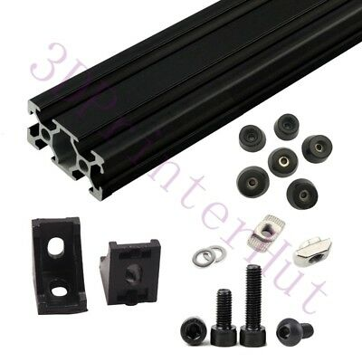 Black Am8 3d Printer Aluminum Extrusion Metal Frame Full Kit F Anet A8 Upgrade