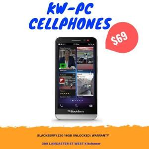 Blackberry bold Z30 (Unlocked) $69.99  KW-PC CELL PHONES BLACK FRIDAY SALE --309 Lancaster St West Kitchener OPEN 7 DAYS