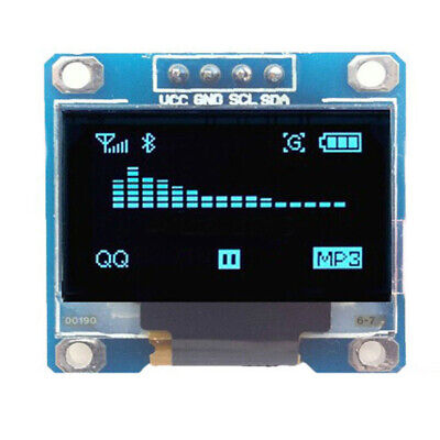 3-5v 0.96 Spi Serial 128x64 12864 Lcd Led Display Module Blue For Arduino 14hh