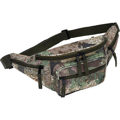 Tree Camo Water Repellent Fanny Pack Oak Camouflage Hunting Gear Waist Belt Bag