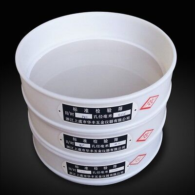12-200 Mesh 1.66-0.074mm Aperture Lab Standard Test Sieve Nylon Diam 20cm