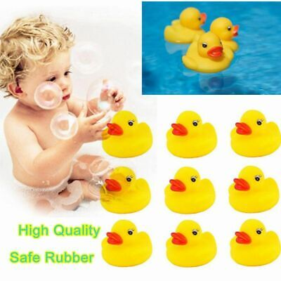 10PCS Mini Yellow Bathtime Rubber Duck Ducks Bath Toy Squeaky Kids play gifts Yellow Rubber Duck