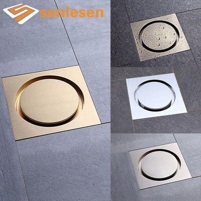 - Bathroom Floor Drain Chrome Finish Brushed Nickel Gold Finish Antique Brass New
