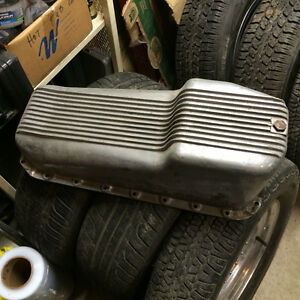 Vintage SBC Cal Custom Finned Oil Pan
