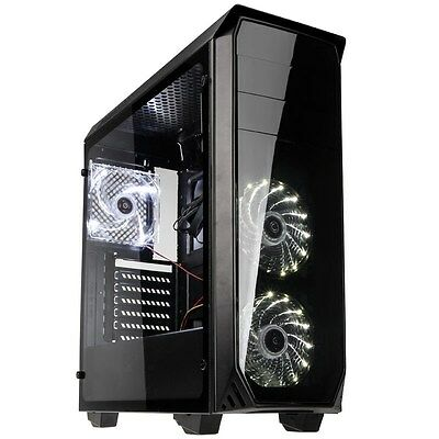 Kolink Luminosity Black Midi Tower Gaming Case - USB 3.0