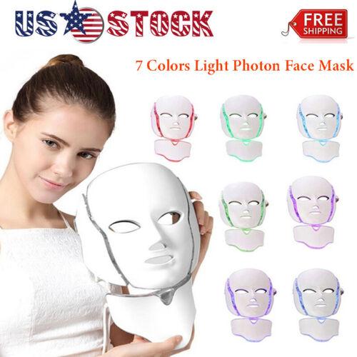 7 Colors LED Light Photon Face Mask Rejuvenation For Skin Ca