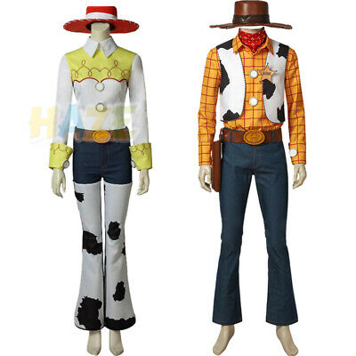 Costume D'halloween Adulte (Toy Story 4 Woody Cowboy Costume Jessie Cosplay Adulte Accessoires)