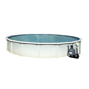 21' pool / piscine 21' with/avec pompe, filtre, escaliers/stairs