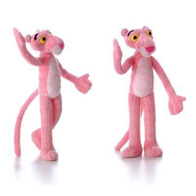 Pink Panther Plush (USA Pink Panther Posable Bendable Soft Stuffed Plush Plushie Doll Figure Toy)