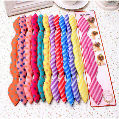 Ear Magic Sponge Hair Styling Curler Roller Donut Bun Makers Twist Tools  ca