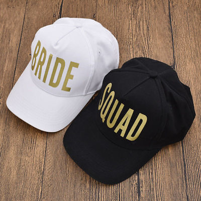 BRIDE SQUAD Snapback Caps Hats Bachelorette Crew Hen Night Party Gold - Gold Party Hats