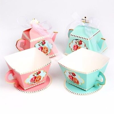 20*Candy Box Tea Party Wedding Gifts For Guests Baby Shower Sweets Exquisite Box