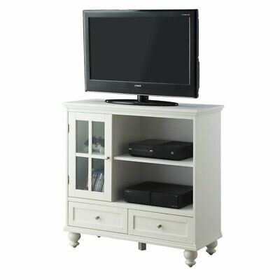 Convenience Concepts Tahoe Highboy TV Stand in White ()