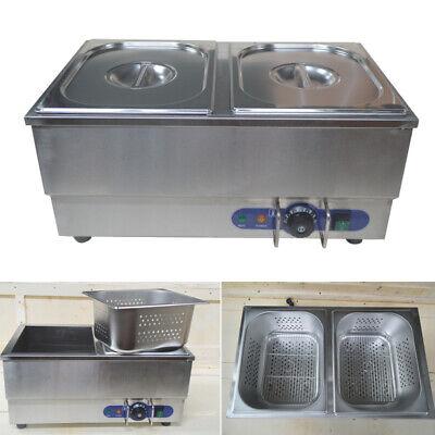 110v Commercial Hot Dog Steamer Bun Warmer Stainless Steel 12.610.25.9pan