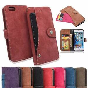 Leather Button Press Stud iPhone 6/6s/7 case / wallet Toorak Stonnington Area Preview