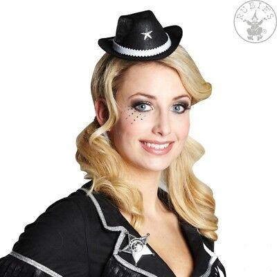 IAL 4170499 Cowgirl Cowboy Mini Hut schwarz Haarclip Party Kopfschmuck Karneval
