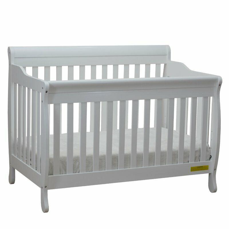 Athena Alice 4 in 1 Convertible Crib with Guardrail