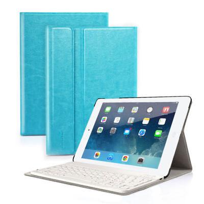DEUTSCHE QWERTZ Tastatur iPad Air 1 Schutzhülle Bluetooth Keyboard Case Blau