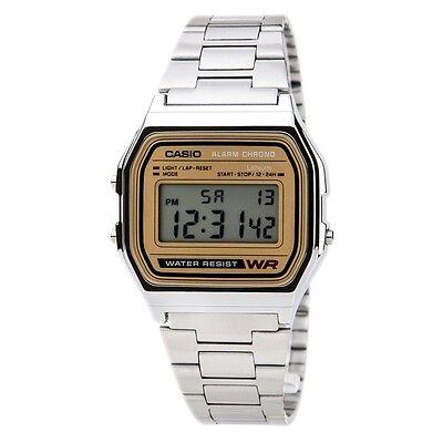 Casio A158WEA-9 Mens Stainless Steel Retro Style Digital Watch Micro Light Alarm