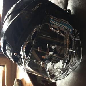 Clear visor/cage for junior helmet