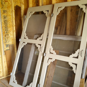 Solid Wooden Screen Doors with spring hinges - 32x80