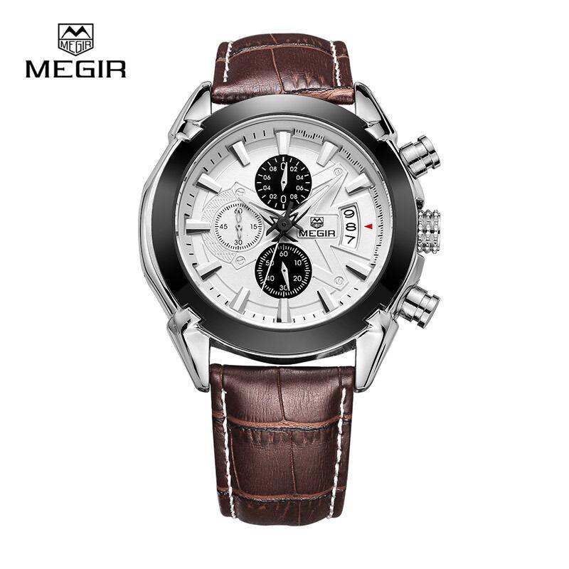 megir sl2020g leather quartz watches men strap waterproof categories