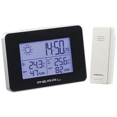PEARL Wetterstation mit Funkwecker, Thermo-/Hygrometer und Funk-Außensensor ()