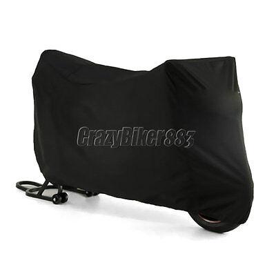 L Black Waterproof Motorcycle Cover For Honda CB CBR 600 F4 F4i 1000 900 929 RR ()