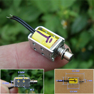 Dc 3v 5v 6v Push Pull Through Type Micro Solenoid Electromagnet Electric Magnet