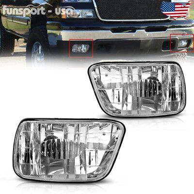for 2002-2009 Chevy Trailblazer Clear Bumper Fog Lights Lamps Replacement PAIR
