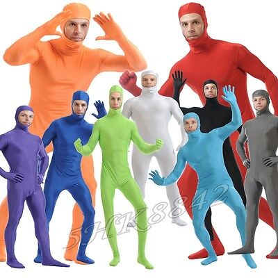 Men Women Kids Open Face Full Body Spandex Suit Zentai Bodysuit Party Costume](Kids Spandex Suit)