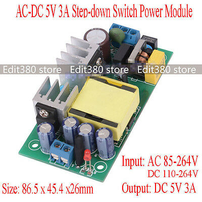 Universal Acdc Adapter 5 Volt 15 Watt Switching Power Supply 5v 3a Smps