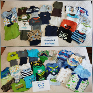 Boys newborn to size 0-3 month lot