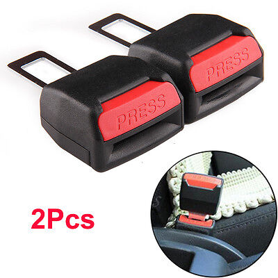 1Pair Black Universal Car Safety Seat Belt Buckle Clip Adjust Extension Extender