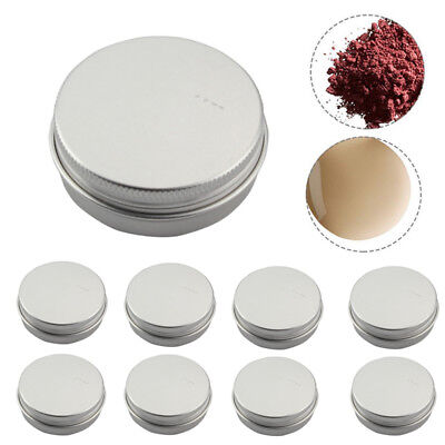 10 pcs Small Mini Round Silver Tin Can Boxes Metal Box Jewelry Container (Small Metal Containers)