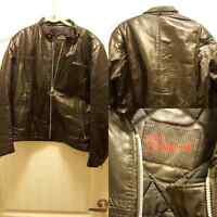 Leather jacket for men size s/m